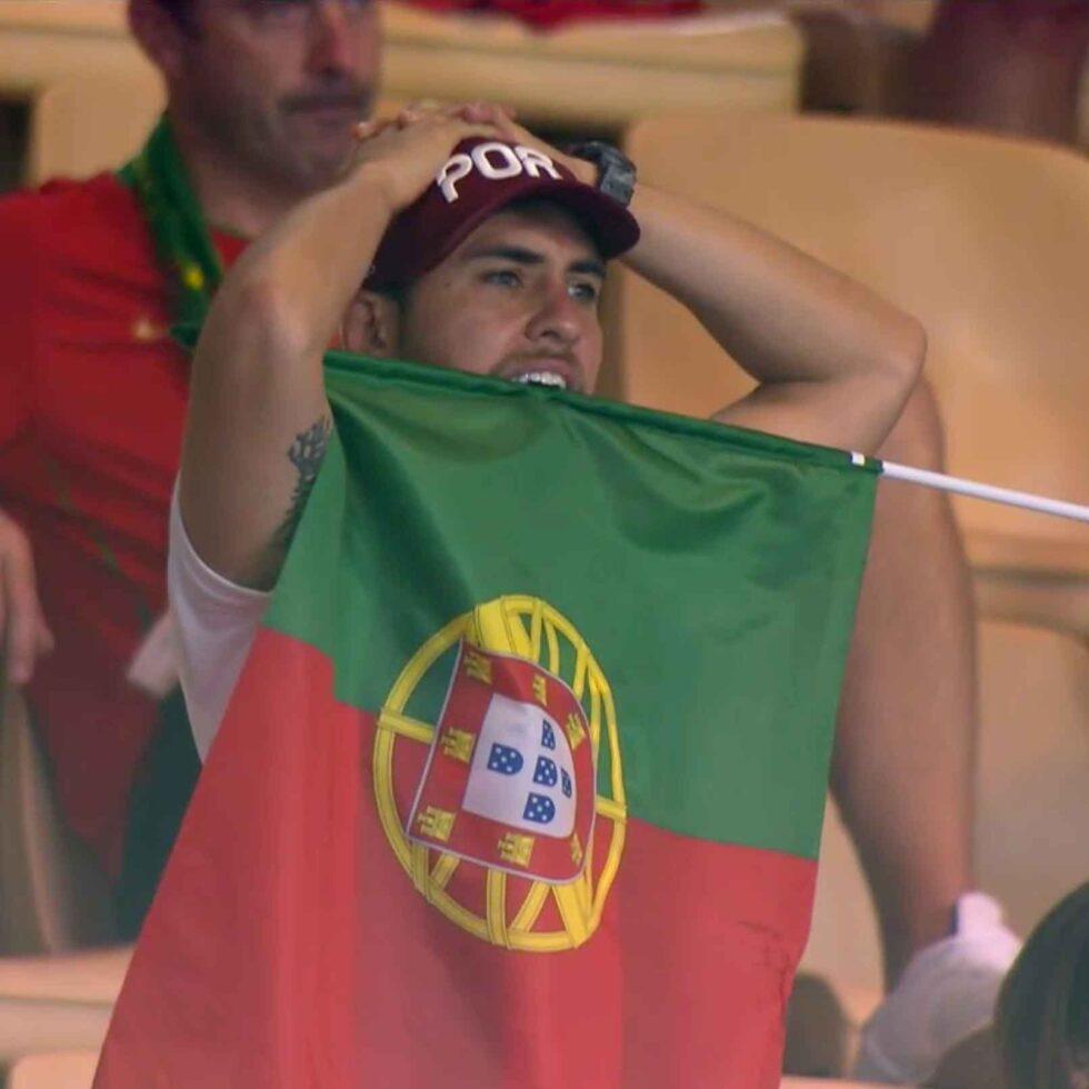 aficionado portugal bandera